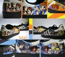 Scott Pilgrim Shoes by Krazmuth