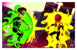 Green Lantern VS Sinestro by Dimestime