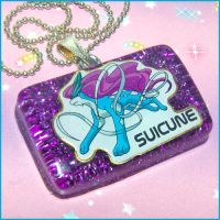 Suicune Pokemon Necklace by bapity88