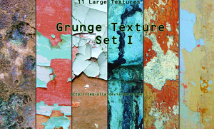 Grunge Texture Set I by Teq-Uila