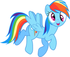 Derpy Rainbow dash vector by Affanita