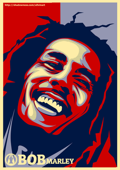 BOB Marley - The King Reggae by allvinART