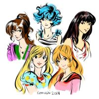 Sailor Moon Girls by AnnaKemushi