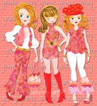 1960s Groovy gals by E-Ocasio