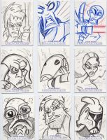 Star Wars-Galactic Files Sketch Cards #8 by mikehampton