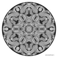 Mandala drawing 28 by Mandala-Jim