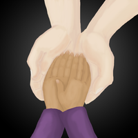 Day 1 - holding hands by moonlightartistry
