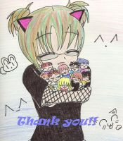 thanx 4 300 by mayuka-chan