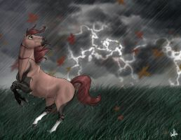 Outrunning the Storm by Spiritwollf