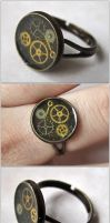 Steam signet ring by monashierogliphica