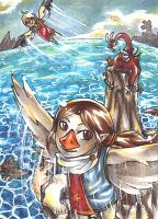 Above the Dragon Roost Island by VulpesLunaris