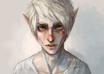 Pale elf by Ajgiel