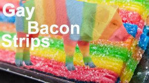 GAY BACON STRIPS by cupcakesXofXtorture