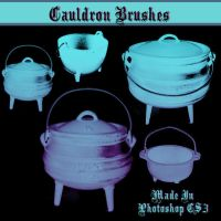 Cauldron Brushes by dollieflesh-stock