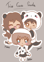 Panda trio by Thegirlins