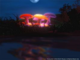 The mushroom forest by entropicalpeace