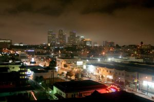 Los Angeles Skyline at night by shelly349