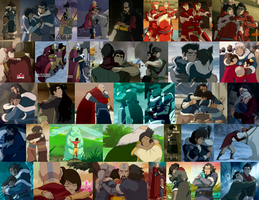 LOK Hugs Collage, Books 1-2 by JackieStarSister