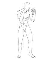 Fighting Male Pose 05 by Death-Tendency