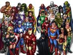 Avengers-Justice League Duo by AdamWithers