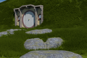 Hobbit Hole [HD Wallpaper] by BlendyCat
