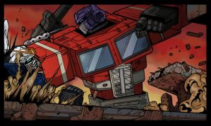 Optimus Prime Vs Gundam Wing by phantro