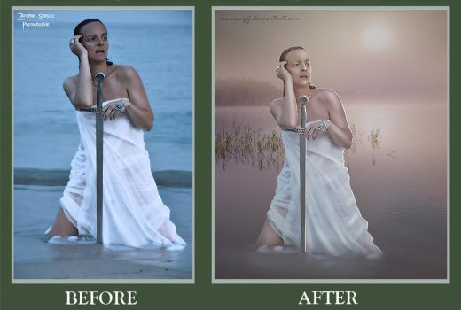 The Lady of the Lake BeforeAfter by annewipf