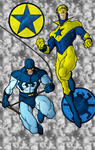 Blue Bettle and Booster Gold by The-FreakyMan