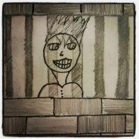 The Smile from Behind the Bars by kuroiStar