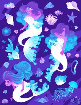 mermaids by mayakern