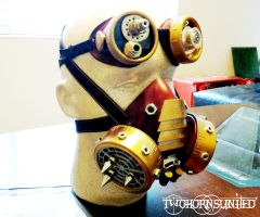 ''The Engineer'' Victorian steampunk gas mask by TwoHornsUnited