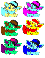 Zorua with N's hat adoptables -open- by Aimees-Adoptables