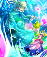 Rosalina VS Peach by KagomesArrow77