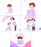 Quick Phan comic: Rain by ChloesImagination