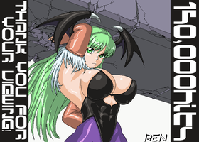 150000hits morrigan by RENtb