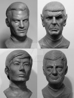 Star Trek TOS 1/2 scale busts by seankylestudios