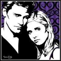 Buffy and Angel by lilpurpleperson