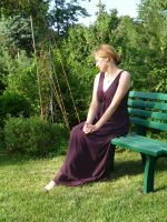 lady - garden bench 7 by indeed-stock