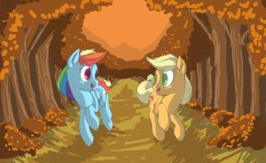 Fall Weather Friends by Cave-Shinobi