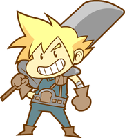 Cloud Strife by nasakii