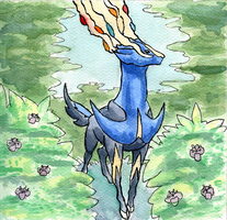 Keeper of Life: Xerneas by Kaliaen