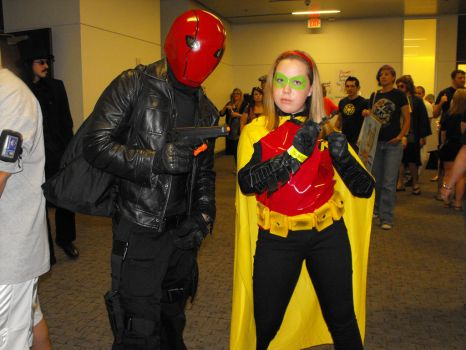 the red hood..and robin by stephthebat