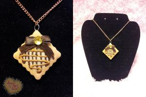 + Choco Caramel Drizzle Necklace + by Blackberry-Sage