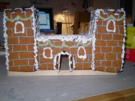 Gingerbread house front by Tarawyn