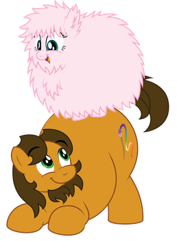 Fluffy Horse loves Chubby Horse! by AleximusPrime