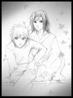 fanfic Naruto and Sasuke by conflictX
