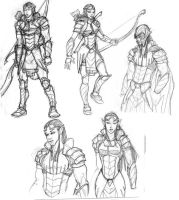 Armor design sketches by mase0ne