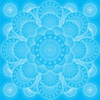 Blue meditative pattern by grebenru