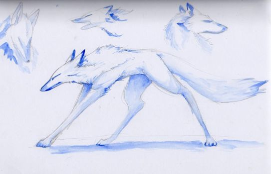 Watercolour Wolves by Karuley