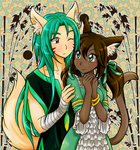 Orion and Azalee - Commission by chikorita85